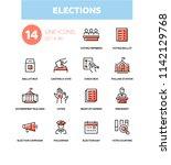 elections   modern line design... | Shutterstock .eps vector #1142129768