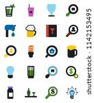 color and black flat icon set   ... | Shutterstock .eps vector #1142153495