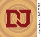 dj logo  sign  icon  label ... | Shutterstock .eps vector #1142165285