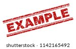 example seal print with grunge...   Shutterstock .eps vector #1142165492