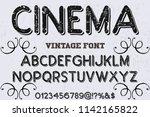 font alphabet script typeface... | Shutterstock .eps vector #1142165822