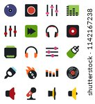 color and black flat icon set   ... | Shutterstock .eps vector #1142167238