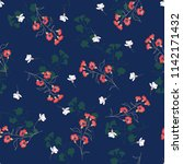 blossom floral seamless pattern.... | Shutterstock .eps vector #1142171432