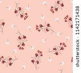 blossom floral seamless pattern.... | Shutterstock .eps vector #1142171438