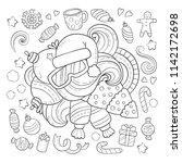 doodle vector illustration ... | Shutterstock .eps vector #1142172698