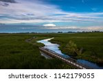 beautiful view of of the marsh... | Shutterstock . vector #1142179055