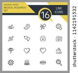 medical research icons. set of  ... | Shutterstock .eps vector #1142191532