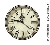 vintage clock face with roman... | Shutterstock .eps vector #1142195675