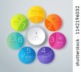infographics design vector and... | Shutterstock .eps vector #1142196032