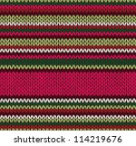 Style Seamless Knitted Pattern...