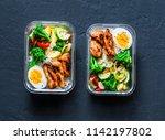 rice  stewed vegetables  egg ... | Shutterstock . vector #1142197802