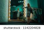from below back view of...   Shutterstock . vector #1142204828