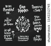 hand written collection of... | Shutterstock .eps vector #1142212745