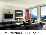 beautiful house  modern style ... | Shutterstock . vector #114222346