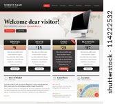 website design template | Shutterstock .eps vector #114222532