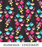 seamless watercolor background... | Shutterstock . vector #1142226635