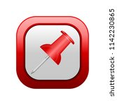 red button with the image of a... | Shutterstock .eps vector #1142230865