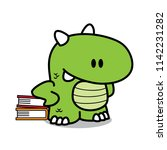 cute dragon character education ... | Shutterstock .eps vector #1142231282