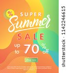 summer sale banner.unique... | Shutterstock .eps vector #1142246615