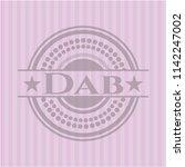 dab realistic pink emblem | Shutterstock .eps vector #1142247002