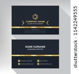 business model name card luxury ... | Shutterstock .eps vector #1142249555