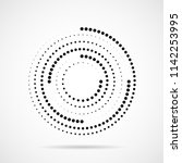 abstract dotted circles. dots... | Shutterstock .eps vector #1142253995