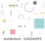 pattern geometric shapes... | Shutterstock .eps vector #1142263295
