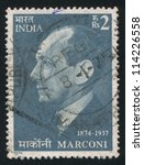 india   circa 1974  stamp... | Shutterstock . vector #114226558