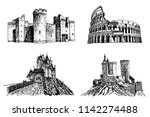 graphical set of sightseeing... | Shutterstock .eps vector #1142274488