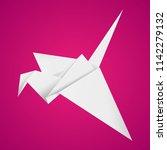 origami bird.vector... | Shutterstock .eps vector #1142279132