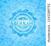 aberrant light blue emblem with ...   Shutterstock .eps vector #1142289752