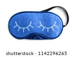 Blue sleeping eye mask ...