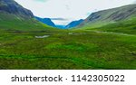 the amazing scottish highlands  ... | Shutterstock . vector #1142305022