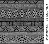 seamless black and white... | Shutterstock .eps vector #1142307875