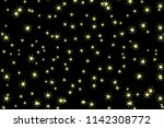 star pattern. glittering wave.... | Shutterstock .eps vector #1142308772