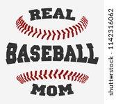 baseball mom typography design... | Shutterstock .eps vector #1142316062