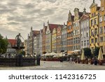 Small photo of Gdansk Poland 07 15 2018 The Neptune fountain in the Long Market Street in the old town of Gdansk