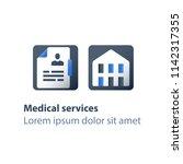 rehabilitation program  medical ... | Shutterstock .eps vector #1142317355