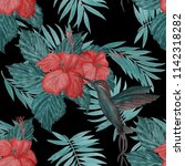 seamless pattern with... | Shutterstock . vector #1142318282