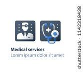 doctor online  medical... | Shutterstock .eps vector #1142318438