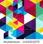 multicolored triangles abstract ... | Shutterstock .eps vector #1142321075