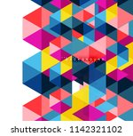 multicolored triangles abstract ... | Shutterstock .eps vector #1142321102