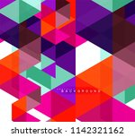 multicolored triangles abstract ... | Shutterstock .eps vector #1142321162