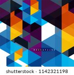 multicolored triangles abstract ... | Shutterstock .eps vector #1142321198
