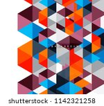 multicolored triangles abstract ... | Shutterstock .eps vector #1142321258