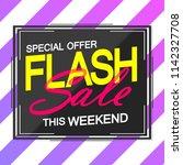 flash sale  poster design... | Shutterstock .eps vector #1142327708