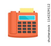 fax telephone icon. flat... | Shutterstock .eps vector #1142329112