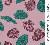 vector tropic seamless pattern. ... | Shutterstock .eps vector #1142344352