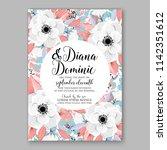 floral wedding invitation... | Shutterstock .eps vector #1142351612