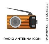 radio antenna icon vector... | Shutterstock .eps vector #1142368118